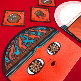 Fat hat God calendar red envelope bag group