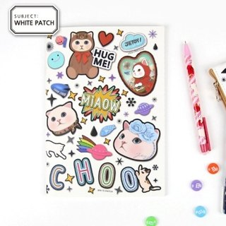 JETOY, sweet cat B5 notebook (bar 64p) _White patch (J1603107)