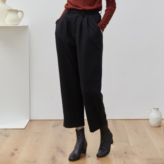 Black 3 color autumn and winter cover meat burning pants wool material straight suit pants wide leg wide pants nine points pants