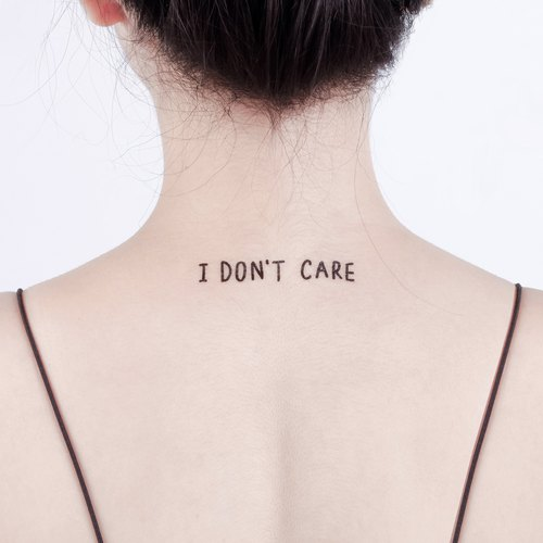 Tattoo Tattoo Sticker / I'm not at Surprise Tattoos