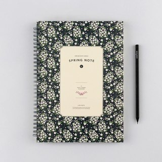 ARDIUM Spiral Notebook (large) - dark blue cherry