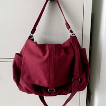 a668c7f29f2d Rose Red canvas Messenger bag   Diaper bag   Travel shoulder bag - no.18
