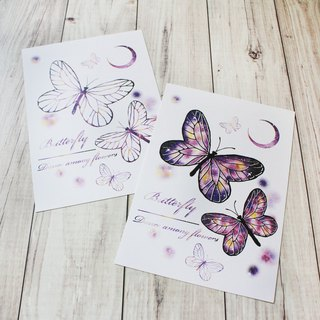 postcard butterfly  Star trace