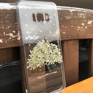 Samsung Galaxy S8 Handmade Pressed Flowers Case White Tree case 026