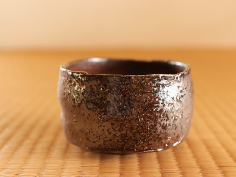 Bizen pottery bowl (with chopsticks box) ty-002