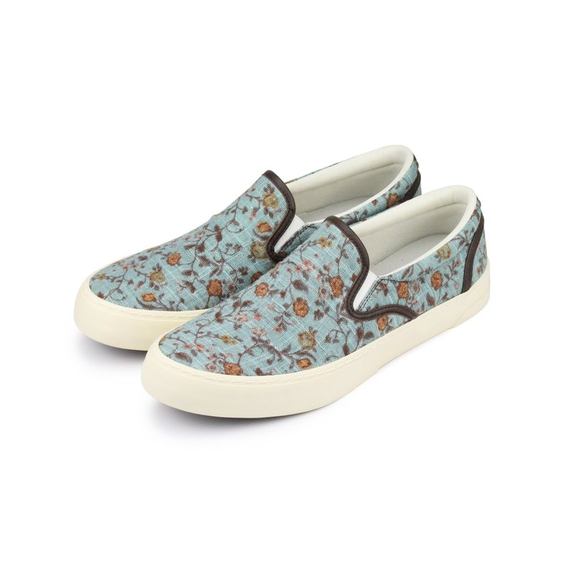 Slip-on simple lazy shoes - fabric design section << cotton linen>> elegant color