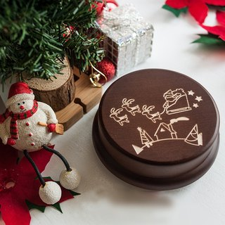 【Memorial gift, Christmas gift】 Elk and Santa Claus customization // Music box music box // christmas gift
