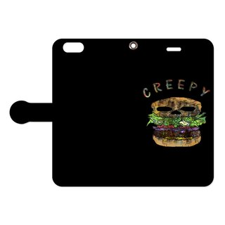 [Notebook type iPhone case] Creepy hamburger 2