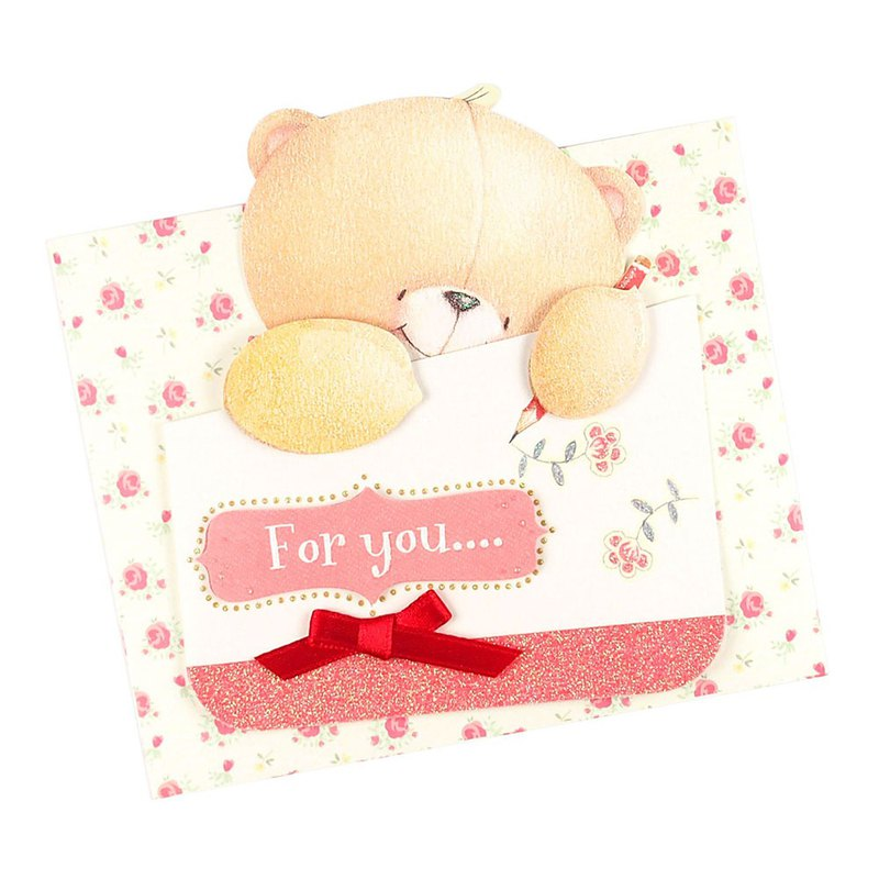 Blazing to write to you [Hallmark-ForeverFriends-Three-dimensional card multipurpose]