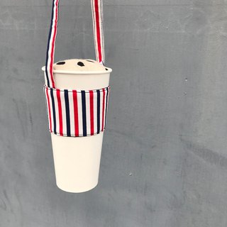 Colorful drinks series ‧ cup bags ‧ Pepsi cola red white and blue stripes ‧
