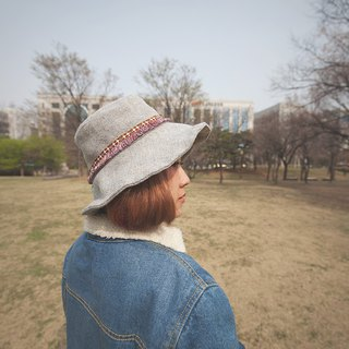 indulgent_ethnic style fisherman hat.grey
