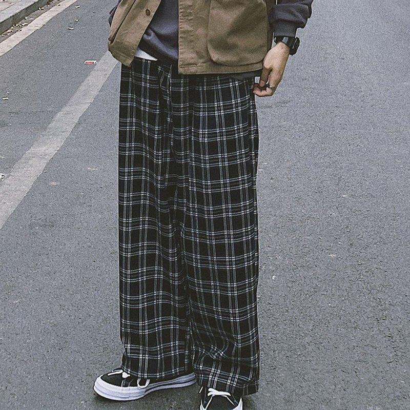 Japanese hang down feeling restoring ancient ways straight lattice slacks