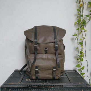 Switzerland _ military rear backpack Mod. 71? (black leather version)