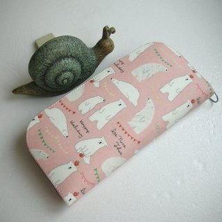 Sleeping Polar Bear Tarpaulin - Long Clip / Wallet / Coin Purse / Gift