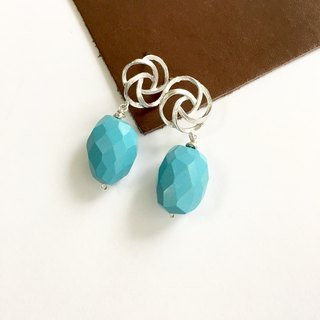 Magnesite turquoise and  Windmill earring