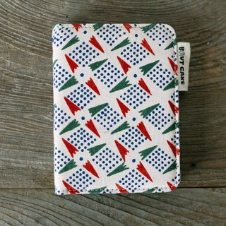 Brut Cake handmade fabric - vintage print passport case (7) limited item !