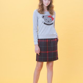 KB spring and summer plaid strap A-line skirt 823F702 (Reminder: need to indicate the color when ordering)