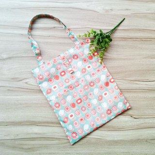 [waterproof shopping bag] green flower