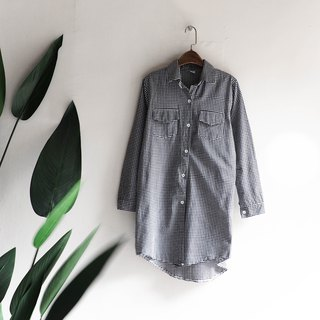 River Water Mountain - Kyoto Fine Broken Buckle Youth Love Party Antique Cotton Shirt Top Jacket Blouse