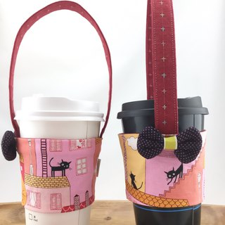 Pink Town Little Black Cat - Eco-Friendly Beverage - Fixed Straw