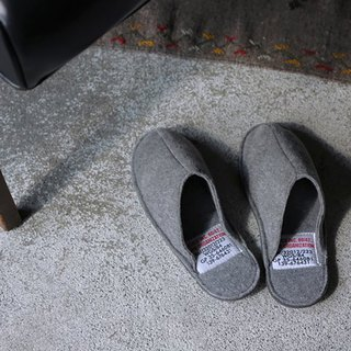 SLIPPER Small Dark Gray Handmade Home Interior Slippers - Dark Grey / Small