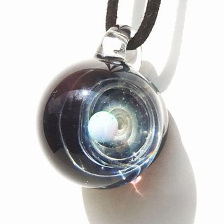 [Sale in translation] Planet's world White opal glass pendant Universe 【Limited 1 point】