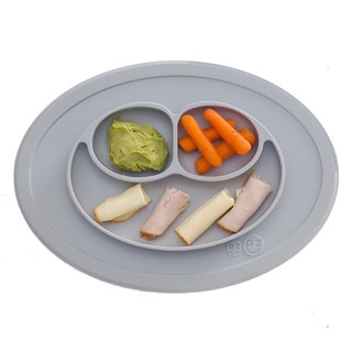 US EZPZ Mini Plate - Stardust Grey HAPPY MAT MINI Silicone Safety Non-toxic Tableware