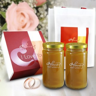 Zhu Ying Beauty: Honey Bee Chun Ying Zhu I Love You Honey Flower honey pure treasure boxes 2 bottles into the bottle 460 grams
