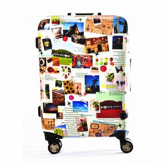Travel Jigsaw - Handmade Printed Fashion Aluminum Frame 20 吋 Luggage Box / Travel Case