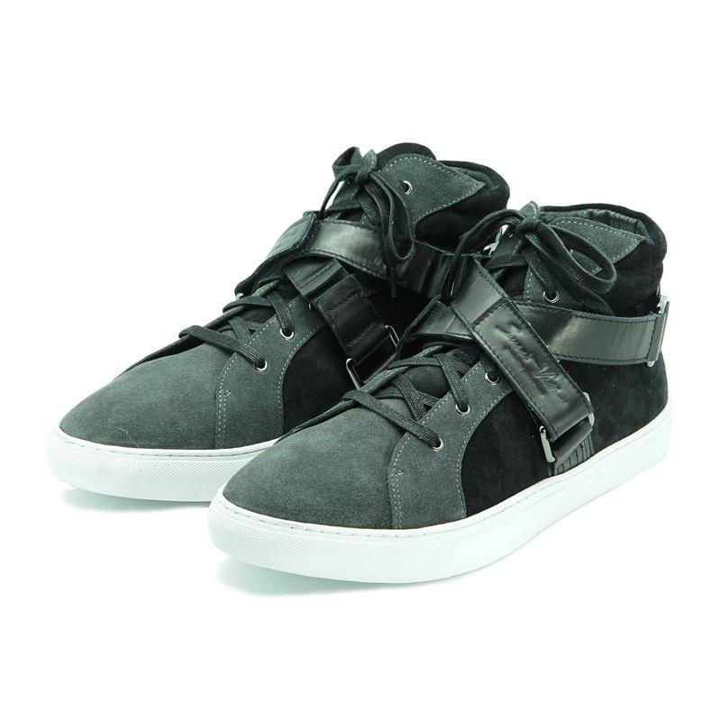 Sweet Villians X Mirako M1192 聯名高筒灰色真皮休閒鞋