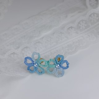 【Littlest Things】 Tatting a Little Thing 系列藍綠小花耳環