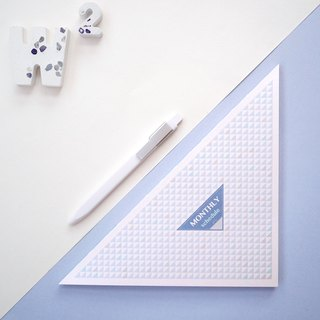 HALF Triangles without Era Month Plan Ben - Champagne Blue