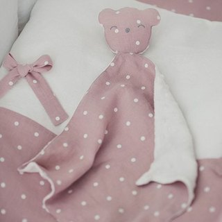 Pastel pink sleeping toy