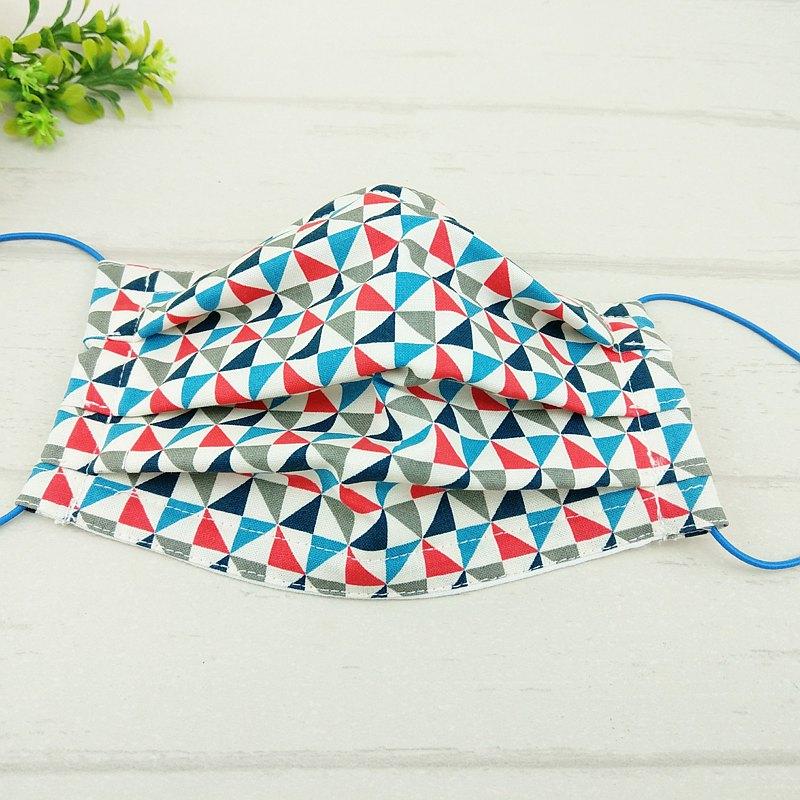 幾何-4款可選。有壓條有開口棉質布口罩