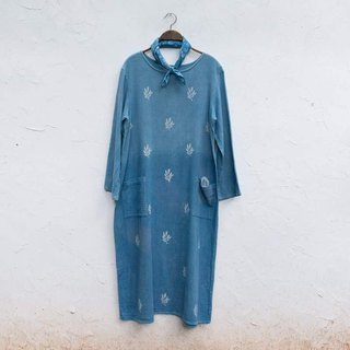 Lady Bug Dress | Indigo dyed cotton