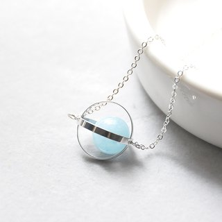 Sea planet. universe. Silver ring. Sea blue treasure. Necklace Ocean Blue Planet. Galaxy. Sliver Ring. Aquamarine. Necklace. birthday present. Girlfriend gift. Sister gift