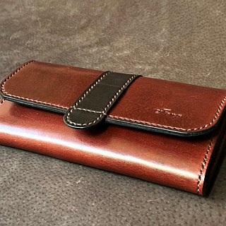 Leather leather hand-made pocket bag mobile phone bag size color can be customized to print English letters