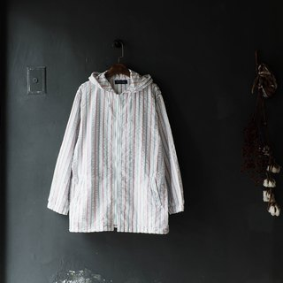 River Hills - Shiga White Bubble Wrinkle Straight Lines Antique Cotton Shirt Top Jacket Blouse