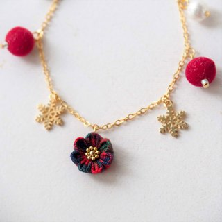 [British Christmas] British style Christmas flower guest bracelet
