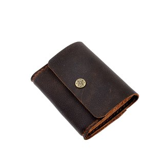 【U6.JP6 handmade leather goods】 - pure hand-made leather imported hand-made natural leather stitching. Simple wallet / bag (both men and women apply)