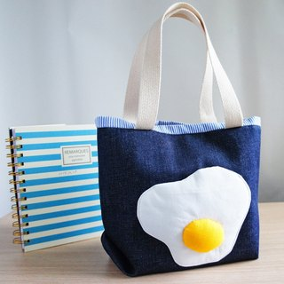 Lovely Good Morning! Pooched egg Denim Cowboy, Lunch Out Bag