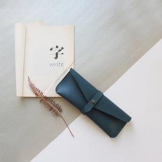 Classic Flying Pencil Case - Rattan Blue - Leather/Pen Case/Fashion/Handmade/Practical/Color