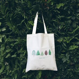 Color-Up hand-painted series - tree canvas shoulder bag