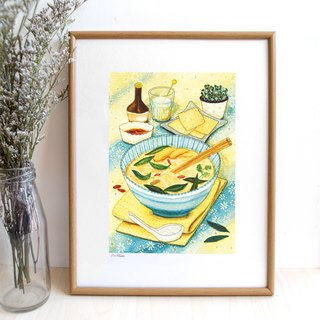 Thai food- illustrated print (frame is not included)