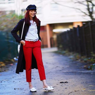 Classic Girl Series No 5 - SALLY / White leather / Mule shoes