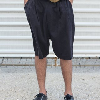 Dropped Crotch Linen Shorts