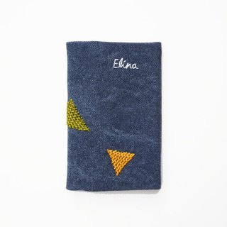 Darning embroidery geometric patterns hand embroidery business card holder business card sets (to provide custom embroidery English name order)
