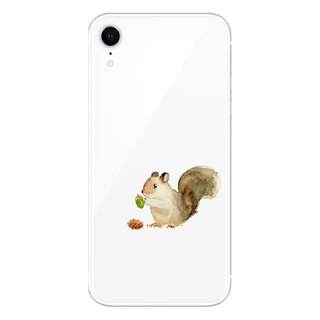 The squirrel is hungry - mobile phone case / drop / air pressure shell / customizable handwriting + plus words