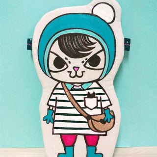 Original hand-painted hand-made brand names of young baby cat hug doll small things oblique shoulder bag