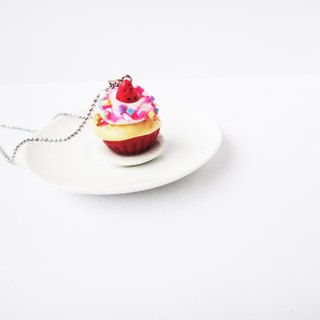 Cupcake Red Necklace